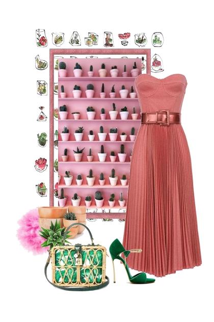 Pink and green- Fashion set