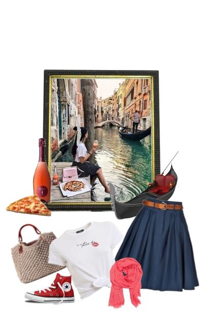 Pizza y Venecia