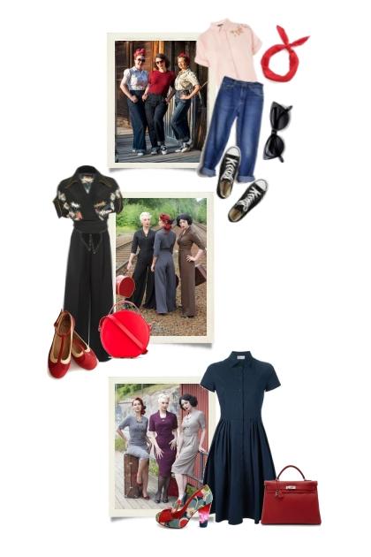 50´s retro fashion- Combinazione di moda