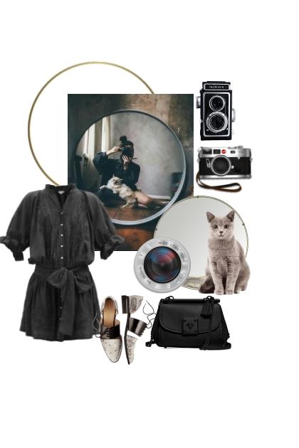 Espejo, cámaras y el gato