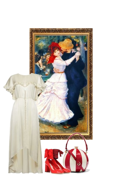 Le Bal a Bougival .Renoir