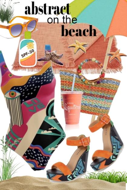 Abstract Beach- Fashion set