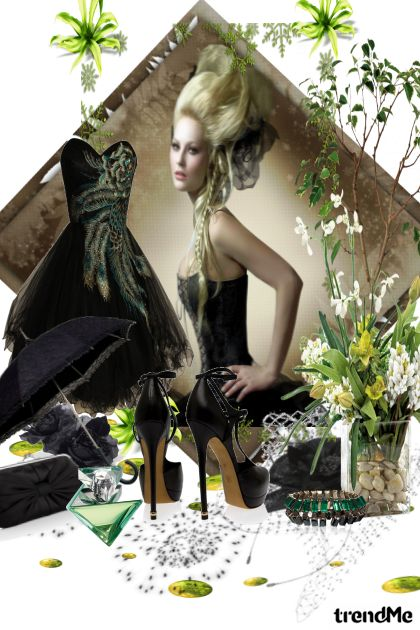 black and green- Modna kombinacija