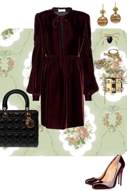 Burgundy- Modna kombinacija