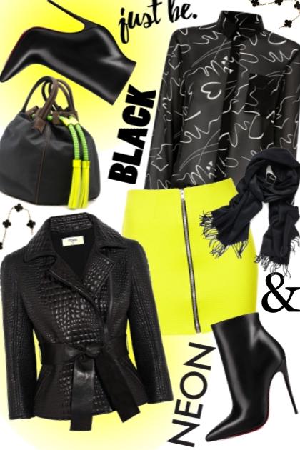 25/neon yellow skirt