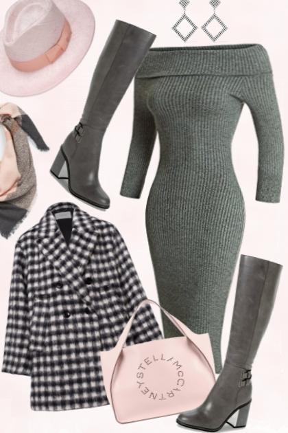 27/Grey sweater dress