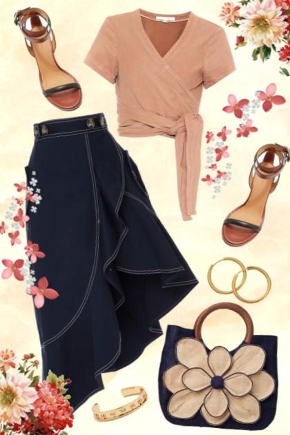 86/Denim skirt- Combinaciónde moda