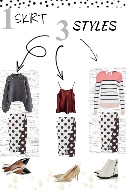 1 skirt 3 styles