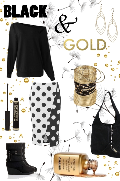 Spring 2021 - black and gold