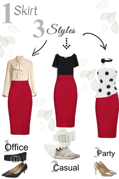 Spring 2021 - red skirt styles