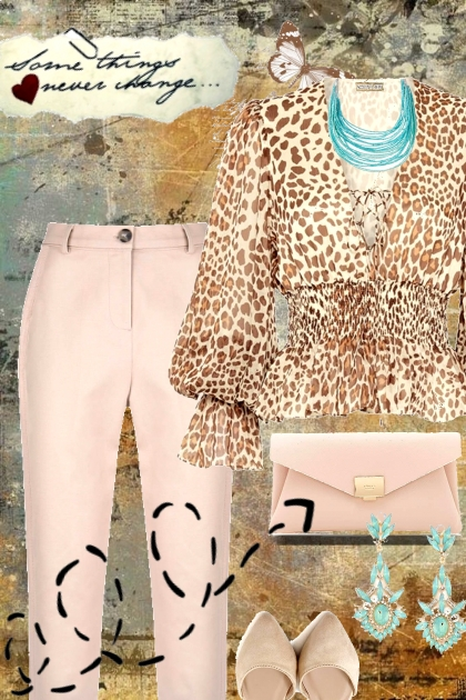 Spring 2021 - animal print blouse