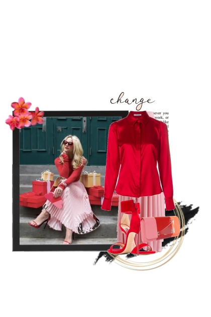 red and pink - Fashion set
