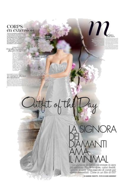 Wedding dress magazine front