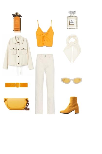 white & orange- Fashion set
