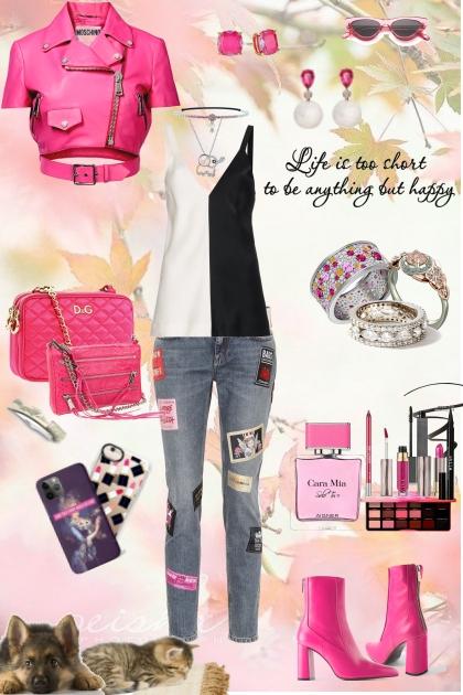me - hot pink