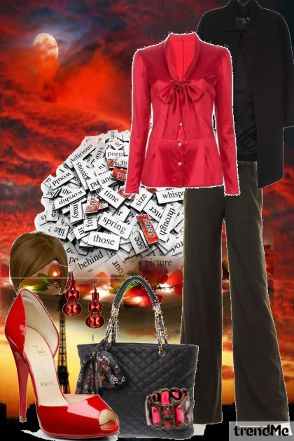 Red eyes on the moon,bussines woman- Fashion set