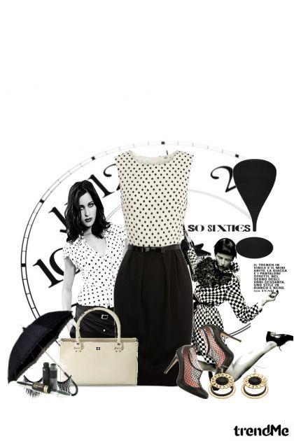 crno bijeli retro...- Modna kombinacija