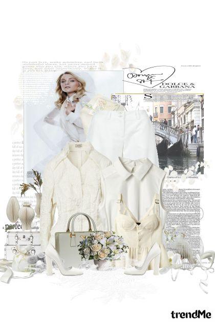 elegantna i u bijelom...