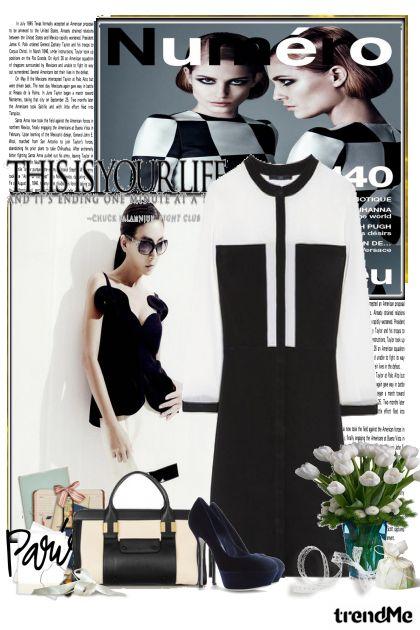 pola bijelo pola crno :)- Modna kombinacija
