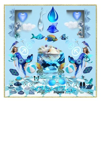 ~Blue Surreal Fashion~