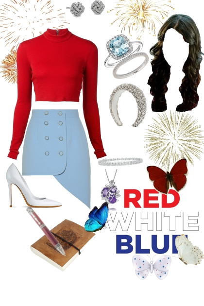 red, white, And business meeting