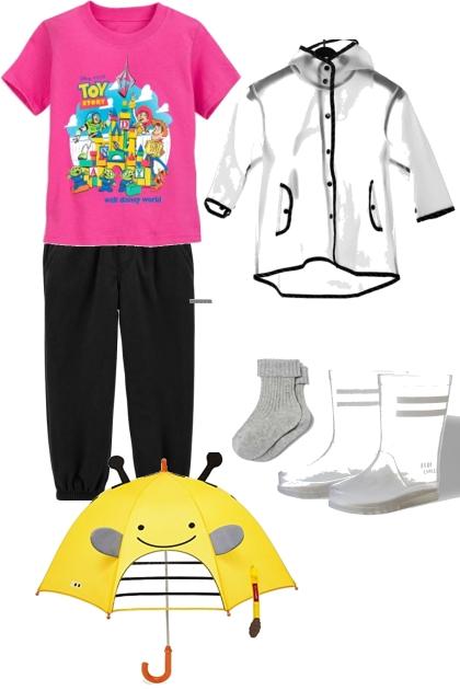 Toddler's Rainy Day- Combinaciónde moda