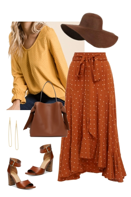 Yellow Swiss Dot Top Outfit 2