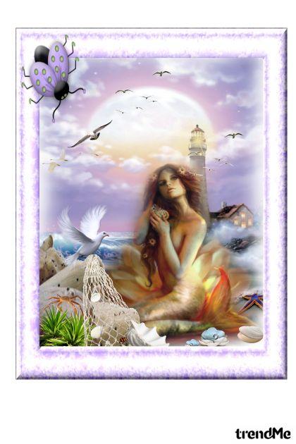 sirena na obali mora