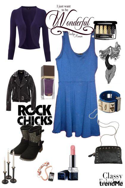 Black and blue- Modna kombinacija