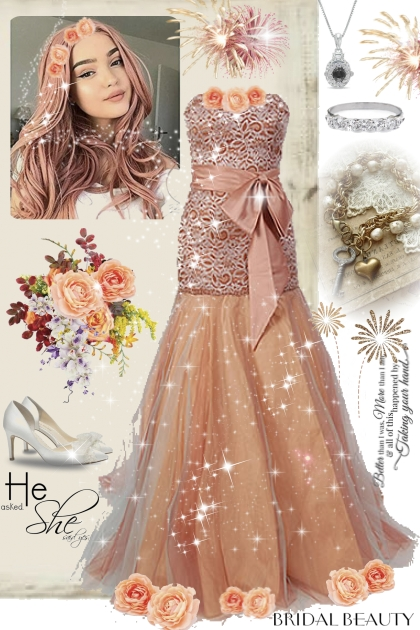 Wedding in peach