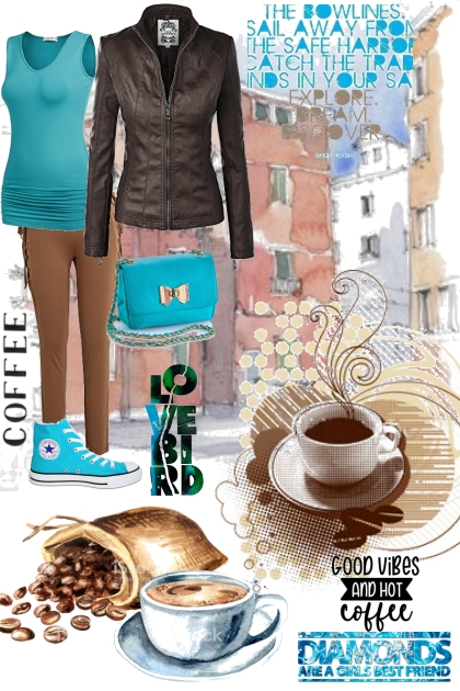 Coffee in turquoise