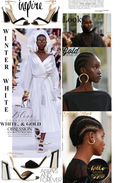 White, gold and black