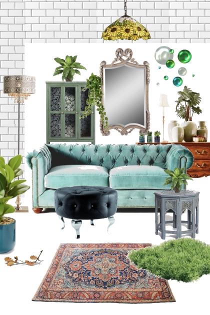 My green sofa