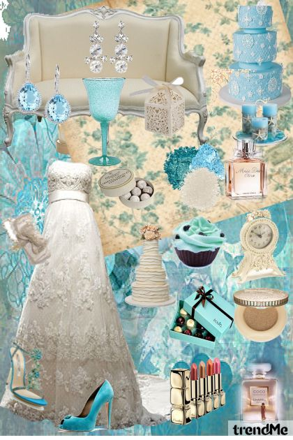 Ivory Blue Wedding Day