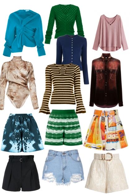 Jade's shirts and skirts