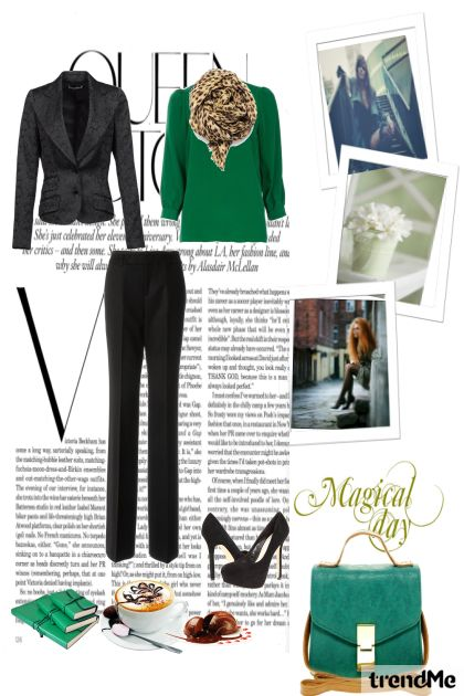 Magical day with green- Fashion set
