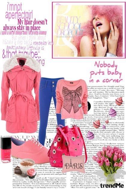 Cold spring day with pink