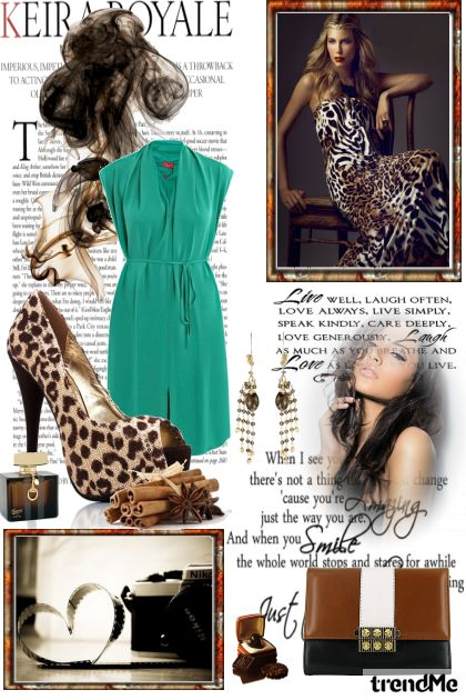 Glamour by green and brown