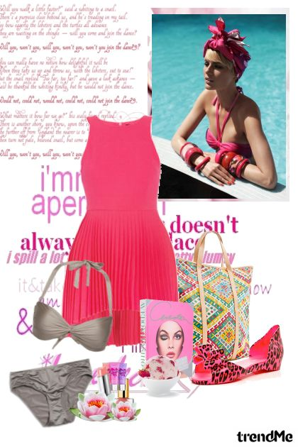 Let's go on the beach with pink!