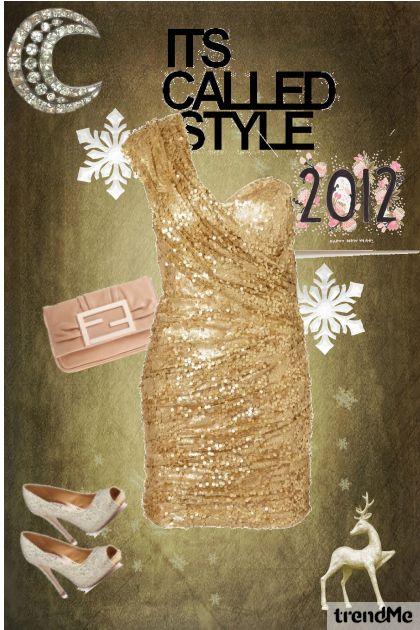 Gold Sequin Dress_Top Shop_HappyNewYear- Modna kombinacija