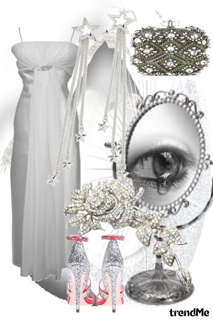 Glamour Silver Dress