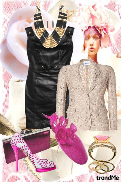 By Versace, Couro e renda, amo!
