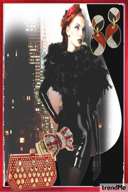 Girls Vintage Black and Red- Fashion set