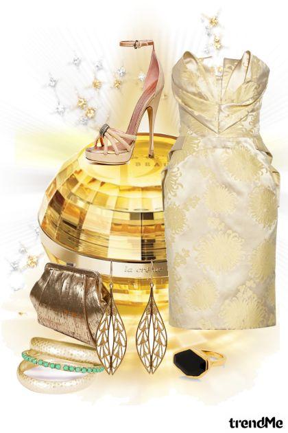 By Zac Posen and Donna Karan, golden glamour