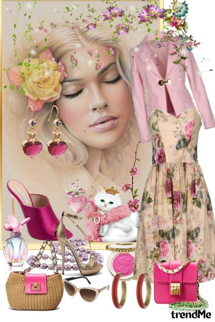 This girl is a romantic kitten ...- Fashion set