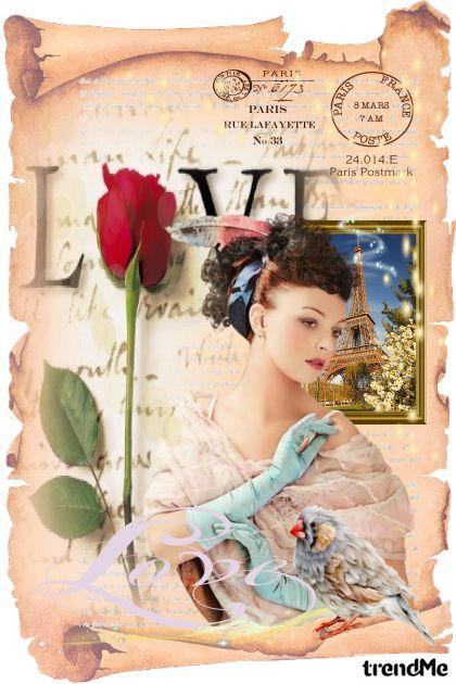 Carta Postale  of Paris: Love