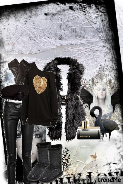 black swan- white winter