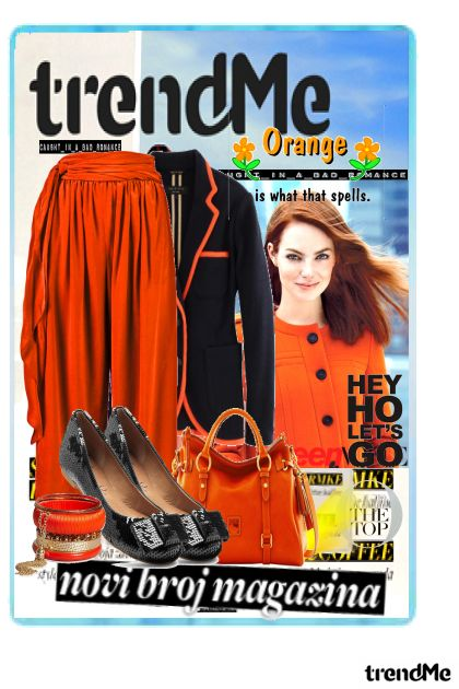 Trend orange by Girlzinha Mml