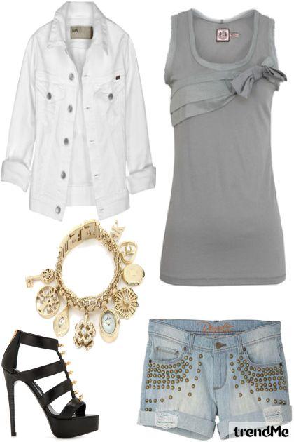 gris y blanco