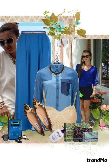 Plavo..........- Modna kombinacija